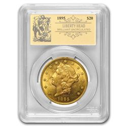 1895 $20 Liberty Gold Double Eagle BU PCGS (Prospector Label)