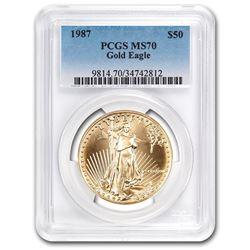 1987 1 oz Gold American Eagle MS-70 PCGS (Registry Set)