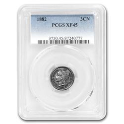 1882 Three Cent Nickel XF-45 PCGS