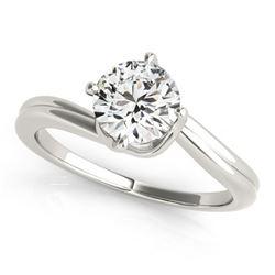 Natural 0.5 ctw Diamond Bypass Ring 14k White Gold