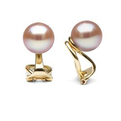 Elite Collection Pink Freshwater Pearl Clip-On Earrings