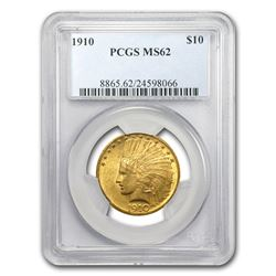 1910 $10 Indian Gold Eagle MS-62 PCGS