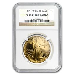 1991-W 1 oz Proof Gold American Eagle PF-70 NGC