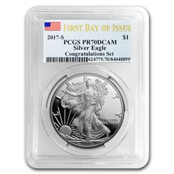 2017-S Proof Silver American Eagle PR-70 PCGS (First Day)