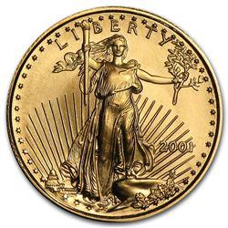 2001 1/10 oz Gold American Eagle BU