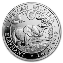 2018 Somalia 1 oz Silver Elephant (Philadelphia ANA Privy Mark)