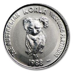 Australia 1/10 oz Platinum Koala BU (Random Year)