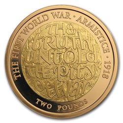 2018 GB Gold 100th Anniv First World War Armistice Proof