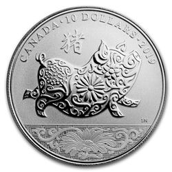 2019 Canada 1/2 oz Proof Silver $10 Lunar Year of the Pig