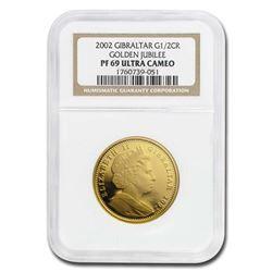 2002 Gibraltar Proof 1/2 oz Gold Crown Golden Jubilee