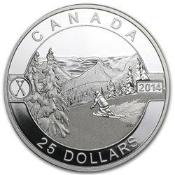 2014 Canada 1 oz Silver $25 Scenic Skiing in Canada Proof