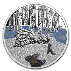 2017 Canada 1 oz Silver $20 Glistening North: The Arctic Wolf Prf