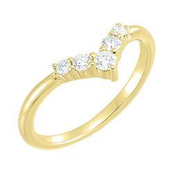 Natural 0.27 CTW Valentine Diamond Ring 14KT Yellow Gold