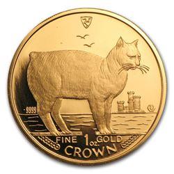 1988 Isle of Man 1 oz Gold Manx Cat BU