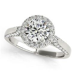 Natural 2.15 ctw Diamond Halo Ring 14k White Gold