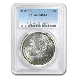 1880/9-S Morgan Dollar MS-64 PCGS