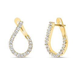 Natural 0.62 CTW Girls Night Out Diamond Earrings 18KT Yellow Gold