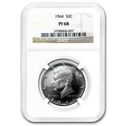 1964 Kennedy Half-Dollar PF-68 NGC