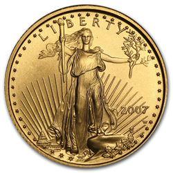 2007-W 1/10 oz Burnished Gold American Eagle