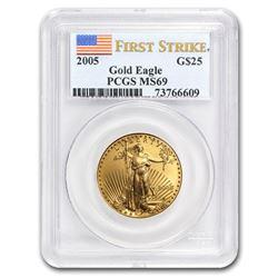 2005 1/2 oz Gold American Eagle MS-69 PCGS (FS)