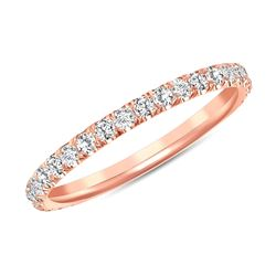 Natural 0.52 CTW Melody Diamond Ring 18KT Rose Gold
