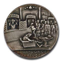 1924 Germany Weimar Republic Recession Medal SP-65 Matte PCGS