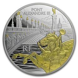 2018 France 5 oz Silver Treasures of Paris Alexander III Bridge