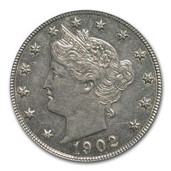 1902 Liberty Head V Nickel PR-62 PCGS