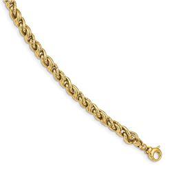 14k Yellow Gold 6 mm Fancy Link Bracelet - 7.5 in.