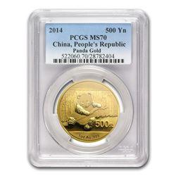 2014 China 1 oz Gold Panda MS-70 PCGS