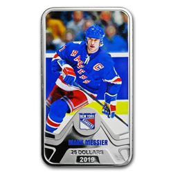 2019 Canada 1.5 oz Silver $25 New York Rangers: Mark Messier