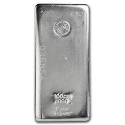 100 oz Silver Bar - Perth Mint