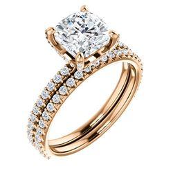 Natural 2.52 CTW Under-Halo Cushion Cut Diamond Ring 18KT Rose Gold