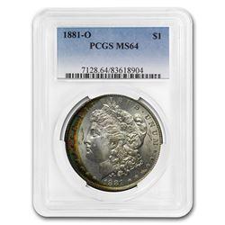 1881-O Morgan Dollar MS-64 PCGS