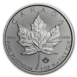 2018 Canada 1 oz Platinum Maple Leaf BU