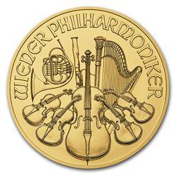2018 Austria 1/2 oz Gold Philharmonic BU