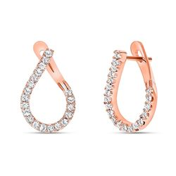 Natural 0.62 CTW Girls Night Out Diamond Earrings 18KT Rose Gold