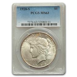 1928-S Peace Dollar MS-63 PCGS