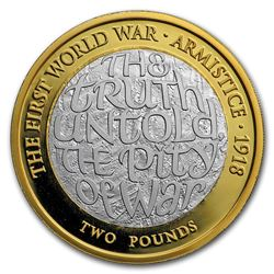 2018 GB Silver 100th Anniv First World War Armistice Piedfort