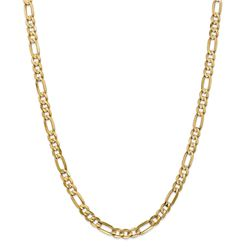 14k Yellow Gold 6 mm Concave Open Figaro Chain - 26 in.
