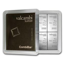 "10x 10 gram Silver Bar - Valcambi Silver CombiBar""¢ (w/Assay)"