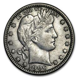 1906-D Barber Quarter AU