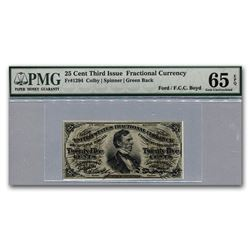 3rd Issue Fractional Currency 25¢ Gem Unc-65 EPQ PMG (FR#1294)