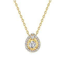 Natural 0.57 CTW Tear Drop Diamond Necklace 18KT Yellow Gold