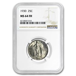 1930 Standing Liberty Quarter MS-64 FH NGC (Full Head)