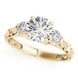 Natural 0.75 ctw Diamond 3 Stone Ring 14k Yellow Gold