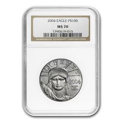 2004 1 oz Platinum American Eagle MS-70 NGC