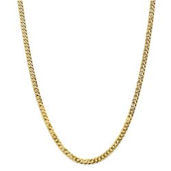 14k Yellow Gold 4.75 mm Beveled Curb Chain - 26 in.