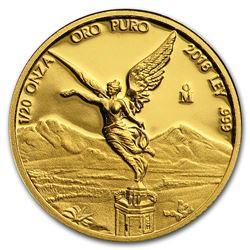 2018 Mexico 1/20 oz Proof Gold Libertad