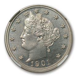 1901 Liberty Head V Nickel PF-63 NGC